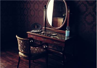 Old Mirror Dressing Table